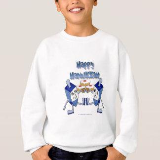 Sweatshirt Hanoukka dansant Dreidels et beignets de gelée