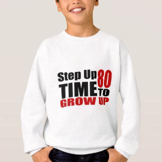 Sweatshirt Heure 80 de grandir des conceptions d'anniversaire