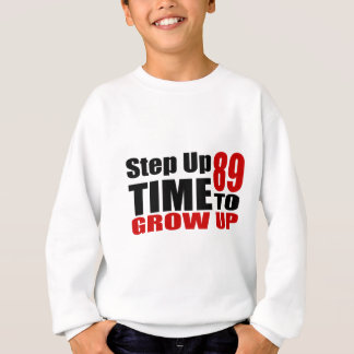 Sweatshirt Heure 89 de grandir des conceptions d'anniversaire