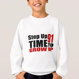 Sweatshirt Heure 91 de grandir des conceptions d'anniversaire