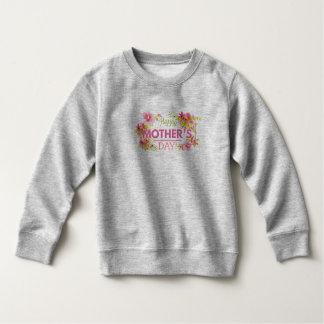 Sweatshirt heureux floral élégant du jour de mère