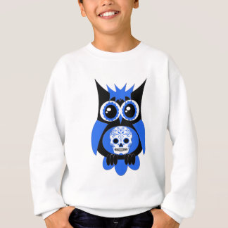 Sweatshirt Hibou bleu de crâne de sucre