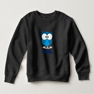 Sweatshirt hibou bleu pour des enfants