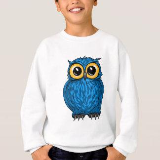 Sweatshirt Hibou mignon de bleu de huée