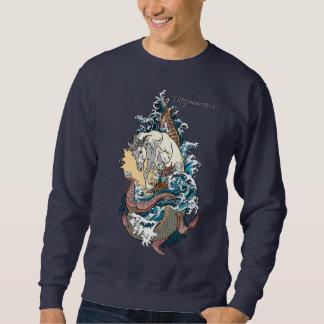 Sweatshirt hippocampe mythologique