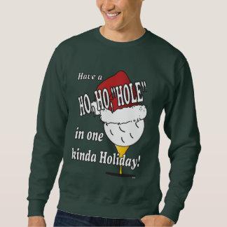 Sweatshirt Ho Ho trou dans une boule de golf de Noël
