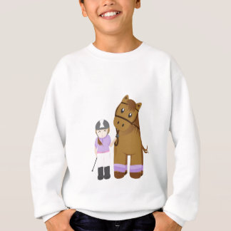Sweatshirt Horse and girl - Fille et cheval