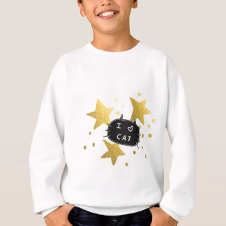 Sweatshirt I étoiles d'or de CAT de coeur