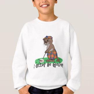 Sweatshirt I la loutre joue au golf