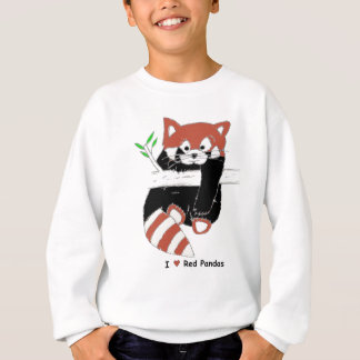 Sweatshirt I pandas rouges de coeur