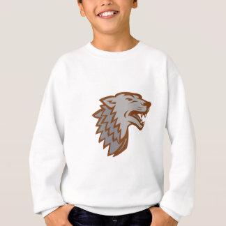 Sweatshirt Icône de loup gris d'écorcement