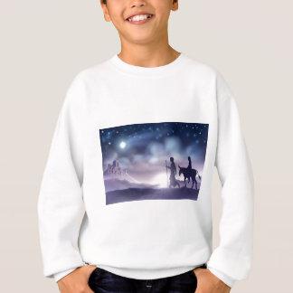 Sweatshirt Illustration de Noël de nativité de Mary et de