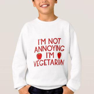 Sweatshirt I'm urgence Annoying I'm Vegetarian pomme de