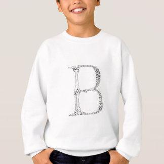 Sweatshirt Initiale d'os de la lettre B