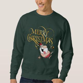Sweatshirt ivre de Joyeux Noël de Père Noël