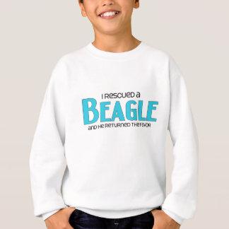 Sweatshirt J'ai secouru un beagle (le chien masculin)