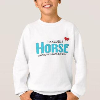 Sweatshirt J'ai secouru un cheval (le cheval femelle)