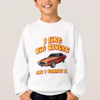Sweatshirt J'aime de grands blocs et je ne peux pas me