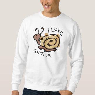 Sweatshirt J'aime des escargots