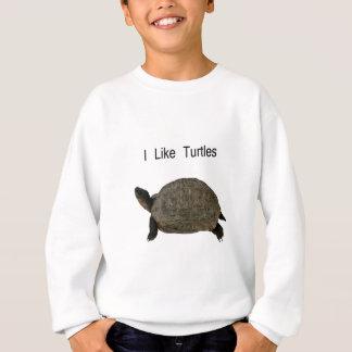 Sweatshirt j'aime des tortues