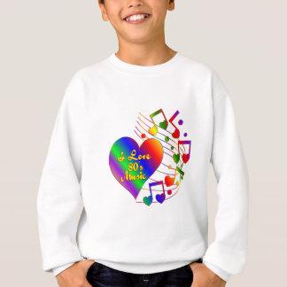 Sweatshirt J'aime la musique 80s