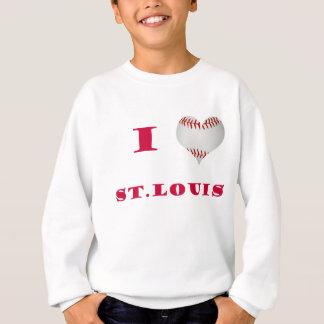 Sweatshirt J'aime le base-ball de St Louis
