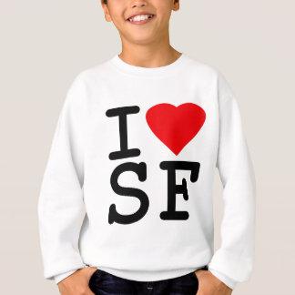 Sweatshirt J'aime le coeur San Francisco