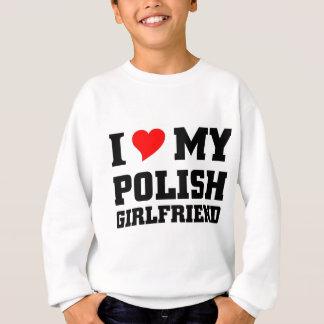 Sweatshirt J'aime mon amie polonaise