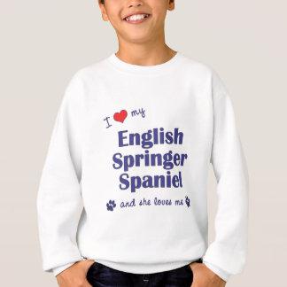 Sweatshirt J'aime mon épagneul de springer anglais (le chien
