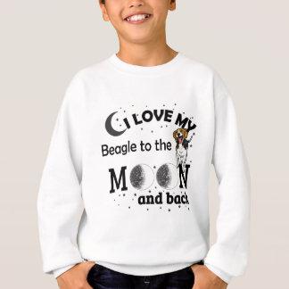Sweatshirt J'aime mon habillement décontracté de beagle