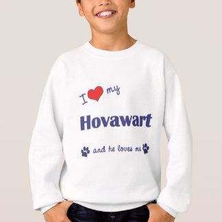 Sweatshirt J'aime mon Hovawart (le chien masculin)