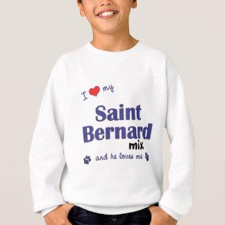 Sweatshirt J'aime mon mélange de St Bernard (le chien