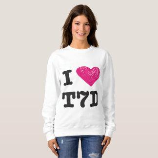 """Sweatshirt """"Je chandail aime T7d"""""""