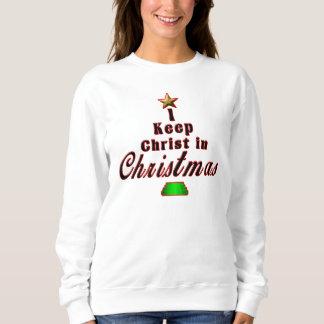 Sweatshirt Je maintiens le Christ dans le chandail unique de