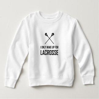 Sweatshirt Je me réveille seulement pour la lacrosse