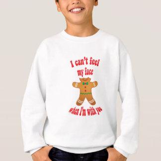 Sweatshirt Je ne peux pas sentir mon visage - pain d'épice
