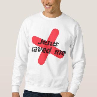 Sweatshirt Jesus saved me Rouge noir
