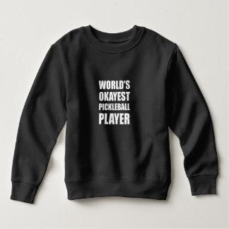 Sweatshirt Joueur d'Okayest Pickleball des mondes drôle