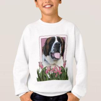 Sweatshirt Jour de mères - tulipes roses - St Bernard - Mae
