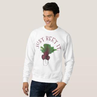 Sweatshirt Juste betterave (battement) il jardin drôle de