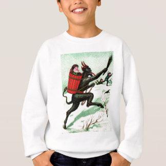Sweatshirt Krampus chassant la mauvaise neige d'hiver