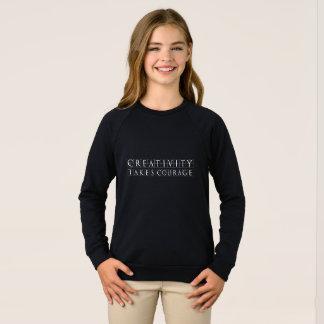 Sweatshirt La créativité prend le courage