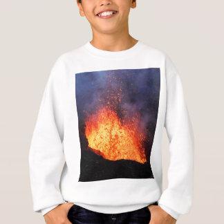 Sweatshirt La fontaine de la lave chaude éclate du volcan de