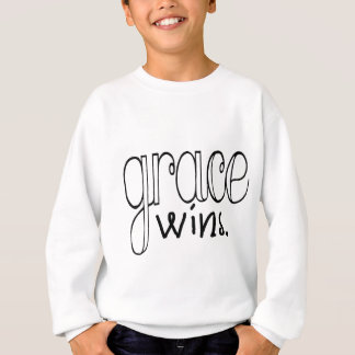 Sweatshirt La grâce gagne (le noir)