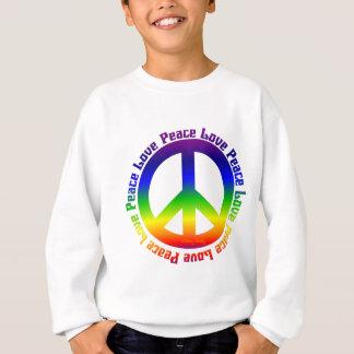 Sweatshirt La paix et aiment tous autour
