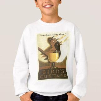 Sweatshirt La publicité vintage, crème anglaise d'oiseaux