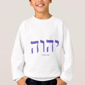 Sweatshirt La sueur des enfants bleus de lettrage de Yahweh