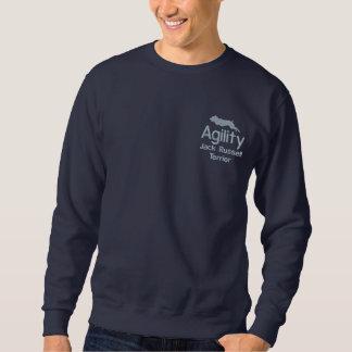 Sweatshirt L'agilité Jack Russell Terrier a brodé la chemise