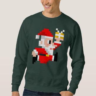 Sweatshirt laid à 8 bits de Noël du père noël des