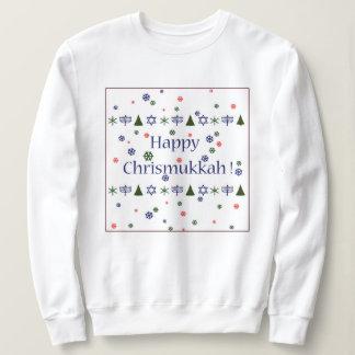 Sweatshirt laid de Hanoukka de Noël